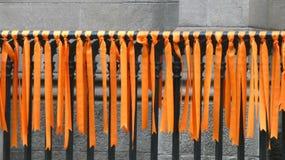 Oranje linten Royalty-vrije Stock Afbeeldingen