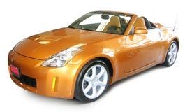 Oranje luxeauto Stock Foto's