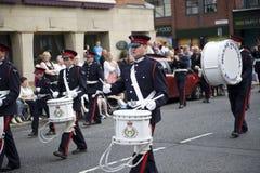 Oranje maart 2010, Belfast Stock Fotografie