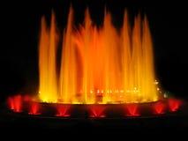 Oranje magische fontein stock fotografie