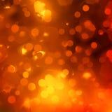 Oranje magische lichten, bokeh. EPS 10 Stock Afbeeldingen