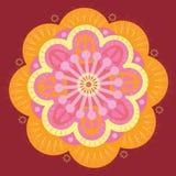 Oranje mandala Stock Afbeeldingen