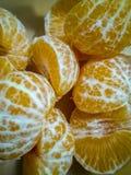 Oranje mandarin segmenten stock afbeelding