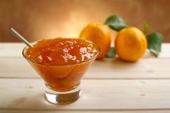 Oranje marmelade royalty-vrije stock foto's