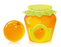 Oranje marmelade Stock Afbeeldingen