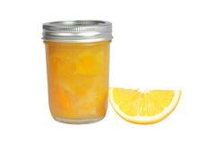 Oranje Marmelade met Wig royalty-vrije stock foto's