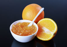 Oranje marmelade, sinaasappel Royalty-vrije Stock Fotografie
