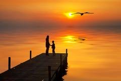 Oranje meer Royalty-vrije Stock Foto