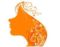 Oranje meisje Stock Fotografie