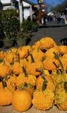 Oranje meloenen op verkoop bij kant van de weg Royalty-vrije Stock Fotografie