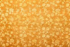 Oranje met de hand gemaakt kunstdocument bloemenpatroon stock foto's