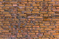 Oranje metselwerkachtergrond/bakstenen muur Stock Foto
