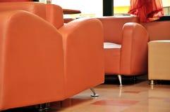 Oranje meubilair stock fotografie
