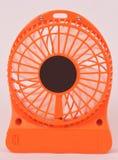 Oranje miniventilator Stock Foto