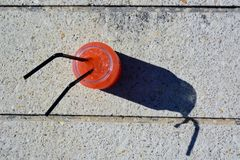 Oranje mojito Stock Fotografie