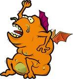 Oranje Monster royalty-vrije illustratie