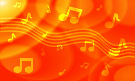 Oranje Muzikale Achtergrond Stock Foto's