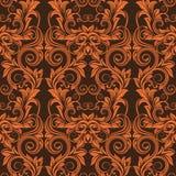 Oranje naadloos behang Royalty-vrije Illustratie