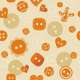 Oranje naadloos patroon Stock Foto