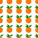 Oranje naadloos patroon Stock Foto's
