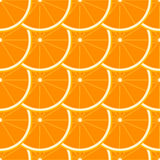 Oranje naadloos patroon Stock Fotografie