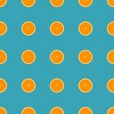 Oranje naadloos patroon Royalty-vrije Stock Afbeeldingen