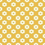 Oranje Naadloos Patroon met Bloemen Stock Fotografie
