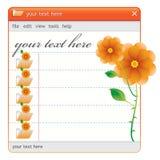 Oranje nam venster toe stock illustratie