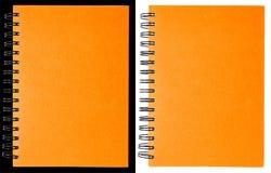 Oranje notitieboekje Stock Afbeeldingen