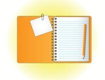 Oranje notitieboekje Royalty-vrije Stock Afbeelding