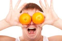 Oranje ogen stock afbeelding