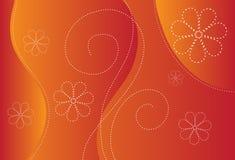 Oranje ontwerp als achtergrond Stock Fotografie