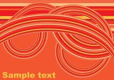 Oranje ontwerpornament Stock Foto's
