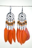 Oranje oorringen royalty-vrije stock fotografie