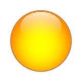 Oranje Orb [01] Royalty-vrije Stock Afbeelding