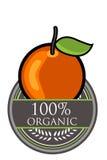 Oranje Organisch etiket Royalty-vrije Stock Afbeeldingen