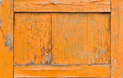 Oranje oude deur Royalty-vrije Stock Fotografie