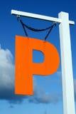 Oranje P Stock Fotografie