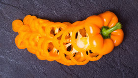 Oranje paprikapeper Royalty-vrije Stock Foto