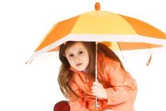 Oranje paraplu Stock Afbeelding