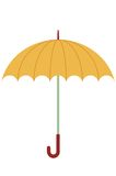 Oranje paraplu royalty-vrije illustratie
