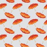 Oranje paraplupatroon als achtergrond. Royalty-vrije Stock Afbeeldingen