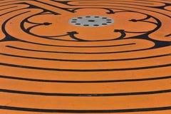 Oranje patroon Royalty-vrije Stock Foto's