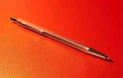 Oranje Pen Royalty-vrije Stock Foto's