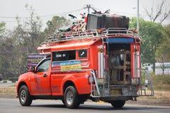 Oranje Pick-uptaxi Chiangmai aan Hoektand royalty-vrije stock afbeeldingen