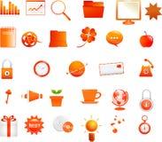 Oranje pictogrammen Royalty-vrije Stock Afbeelding
