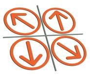 Oranje pijlen Royalty-vrije Stock Foto's