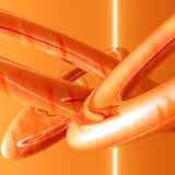 Oranje pijpen en lijnen Stock Afbeelding