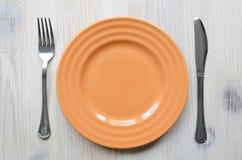 Oranje plaat Stock Foto's