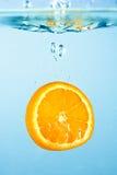 Oranje plak 1 Stock Fotografie